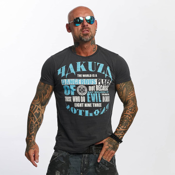 Yakuza T-paidat Dangerous Place harmaa