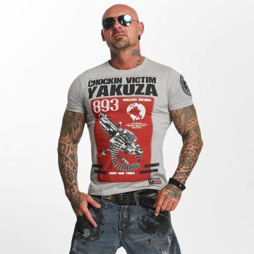 Yakuza T-paidat Chockin Victim harmaa