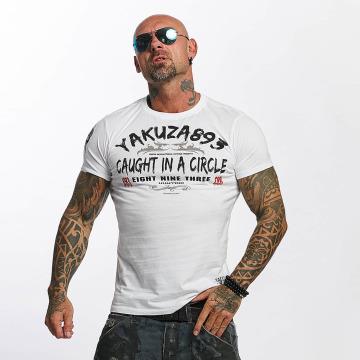 Yakuza T-paidat Caught In A Circle valkoinen
