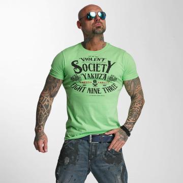 Yakuza T-paidat Violent Society vihreä