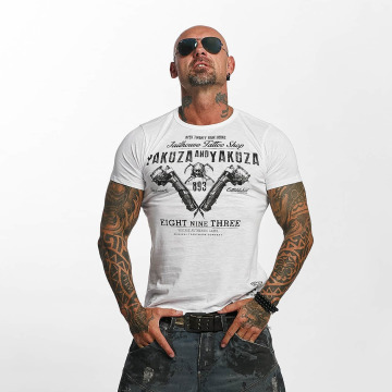 Yakuza T-shirt Tattoo Shop bianco