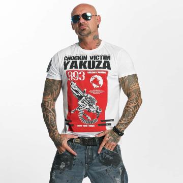 Yakuza T-shirt Chockin Victim bianco