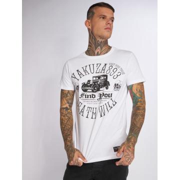 Yakuza T-shirt Death Will Find You bianco