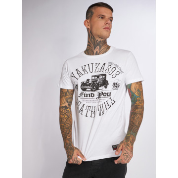 Yakuza T-Shirt Death Will Find You blanc