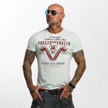Yakuza T-shirt Tattoo Shop blu