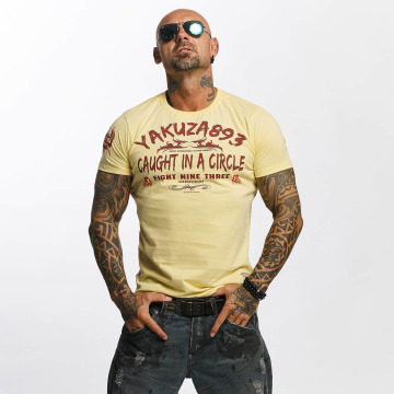 Yakuza T-shirt Caught In A Circle giallo