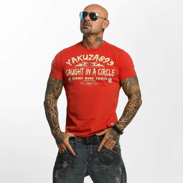 Yakuza T-shirt Caught In A Circle rosso