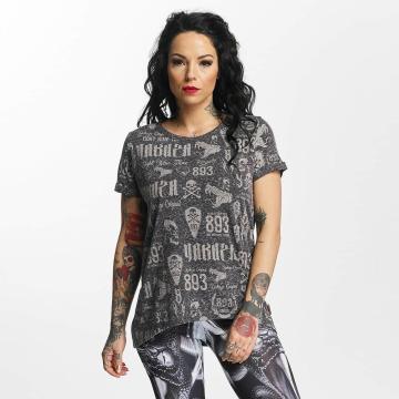 Yakuza T-Shirt Allover Label Boyfriend schwarz