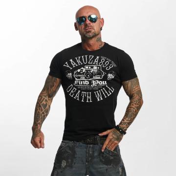 Yakuza t-shirt Death Will Find You zwart