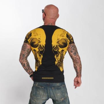 Yakuza t-shirt Skull V02 zwart