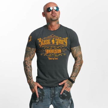 Yakuza T-skjorter Blaze N Glory grå
