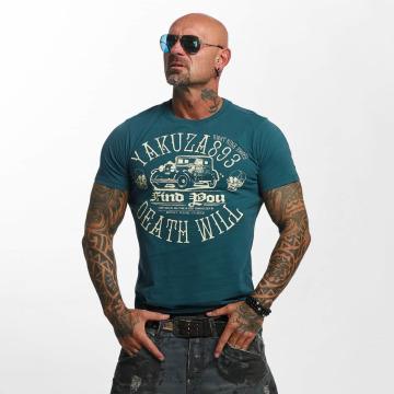 Yakuza T-skjorter Death Will Find You grøn