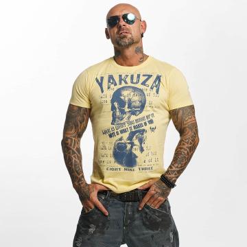 Yakuza T-skjorter Love Hate gul