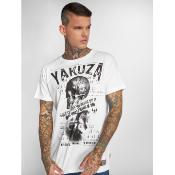 Yakuza T-skjorter Love Hate hvit