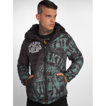 Yakuza Vinterjakker Allover Label Quilted sort