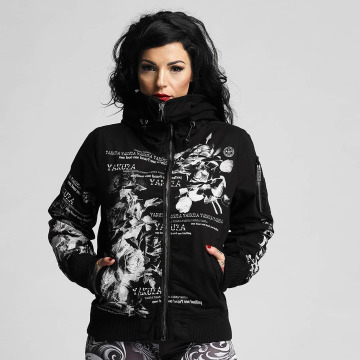 Yakuza Winter Jacket Flower Heavy black