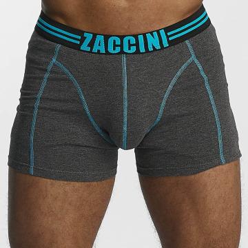 Zaccini Boxershorts Uni 2-Pack grau