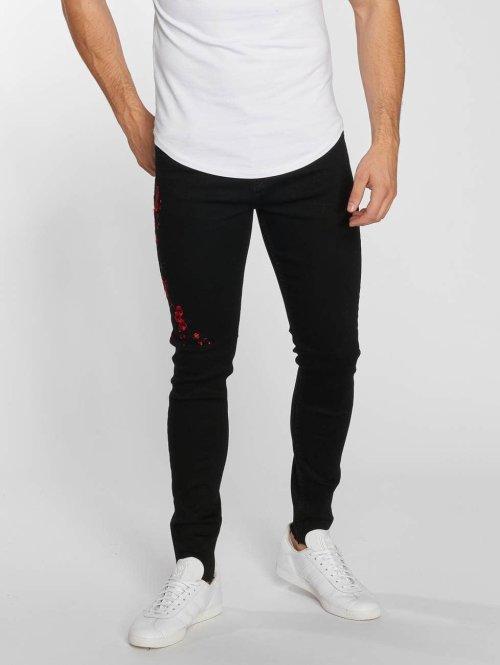 Aarhon Straight Fit Jeans Roze schwarz