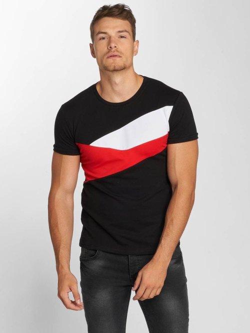 Aarhon T-Shirt Stripes noir