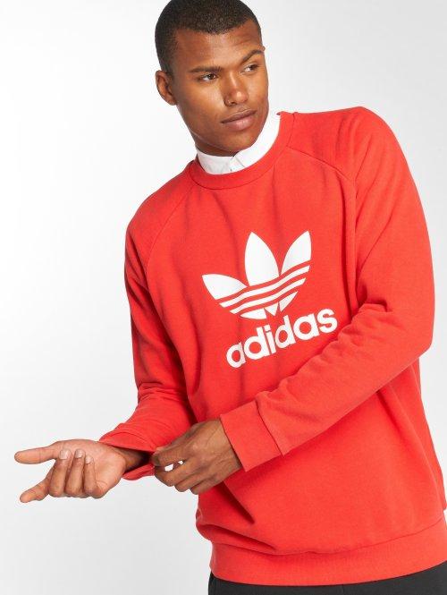 adidas originals Пуловер Trefoil Crew красный