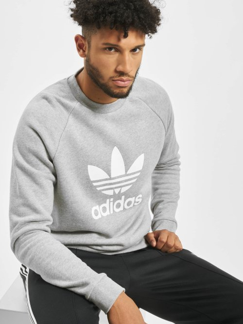 adidas originals Пуловер Trefoil серый