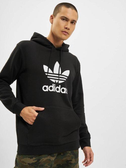 adidas originals Bluzy z kapturem Trefoil Hoodie czarny