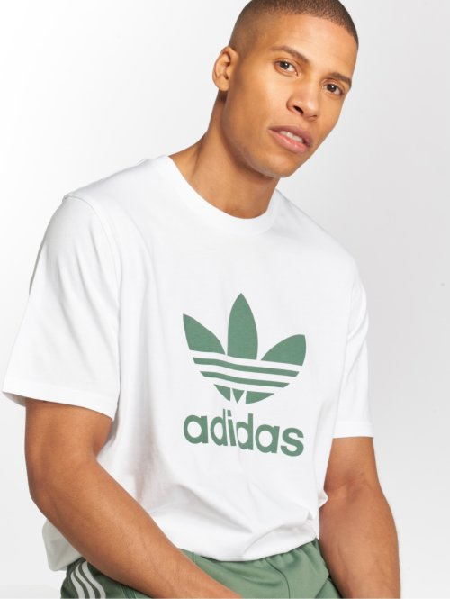 adidas originals Camiseta Trefoil blanco