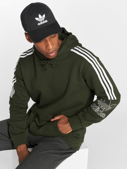 adidas originals Hoodie Outline olive