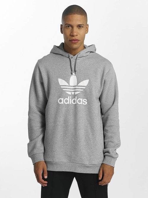 adidas originals Hoodies Trefoil grå