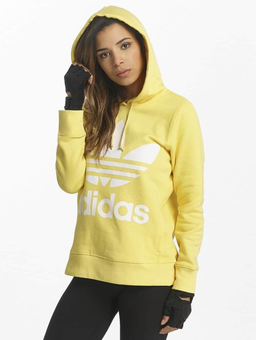 adidas originals Hoody Trefoil gelb