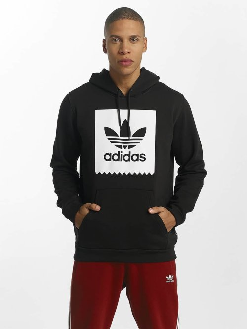 adidas originals Hoody Solid Blackbird zwart