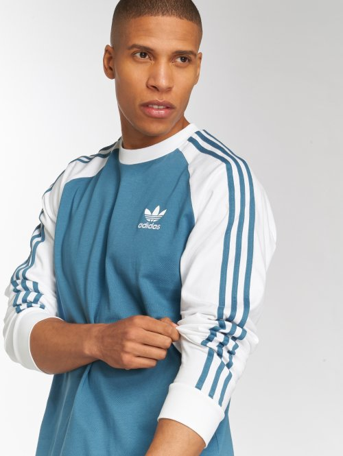 adidas originals Longsleeves 3-Stripes Ls T niebieski