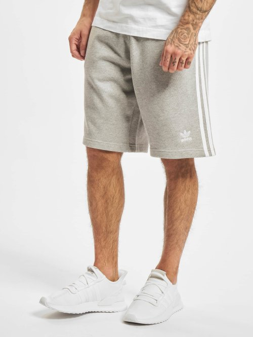 adidas originals Pantalón cortos 3-Stripe gris