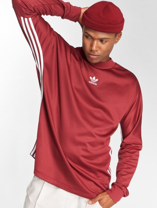adidas originals Swetry Auth Str Jrsy czerwony