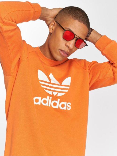 adidas originals Swetry Trefoil Crew pomaranczowy