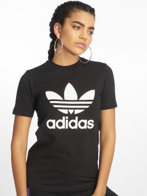 adidas originals t-shirt Trefoil zwart