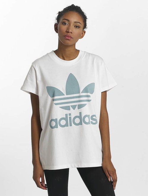 adidas originals T-shirts Big Trefoil hvid
