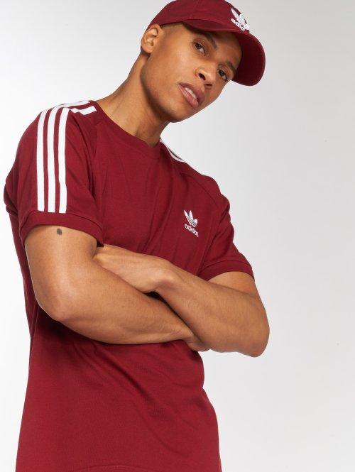 adidas originals T-Shirty 3-Stripes Tee czerwony
