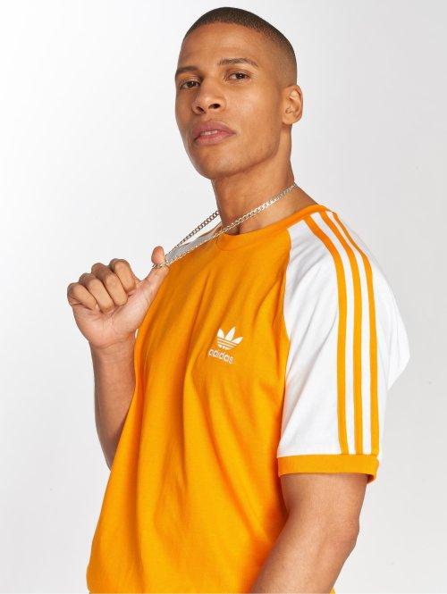 adidas originals T-Shirty 3-Stripes Tee pomaranczowy