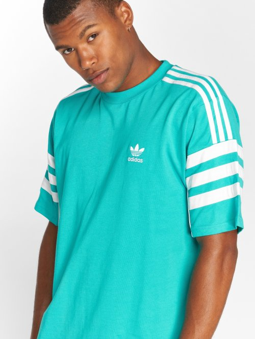 adidas originals T-Shirty Auth S/s Tee turkusowy
