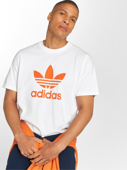 adidas originals T-skjorter Trefoil T-Shirt hvit