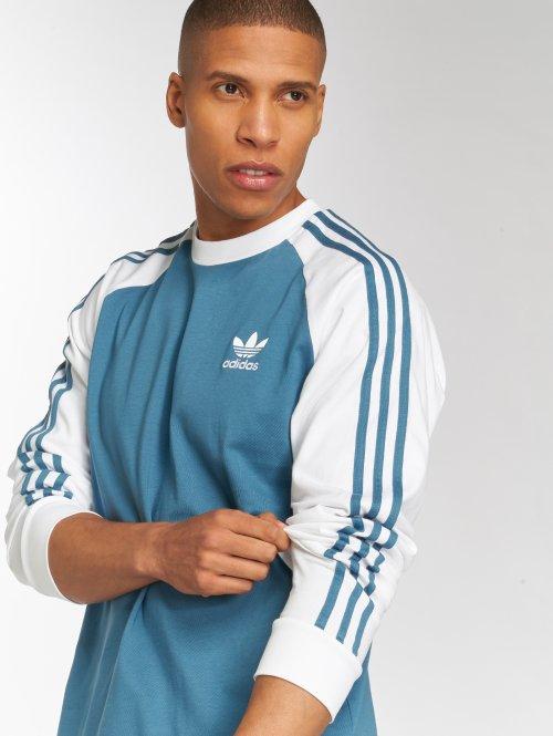 adidas originals Tričká dlhý rukáv 3-Stripes Ls T modrá