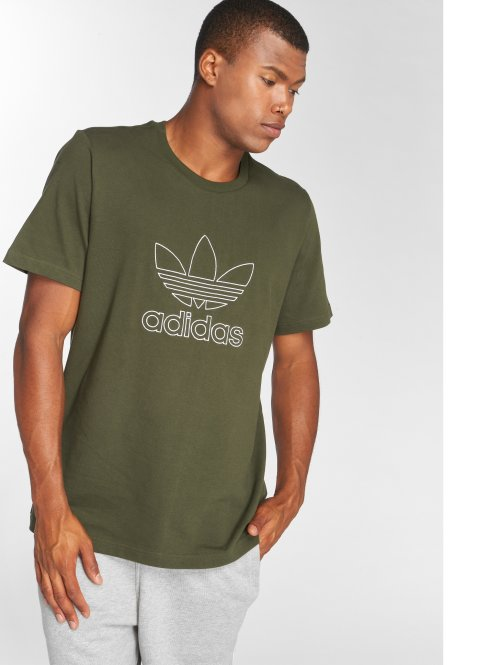 adidas originals Tričká Outline Tee olivová