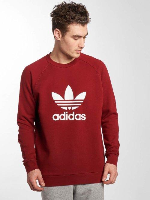 adidas originals trui Trefoil rood