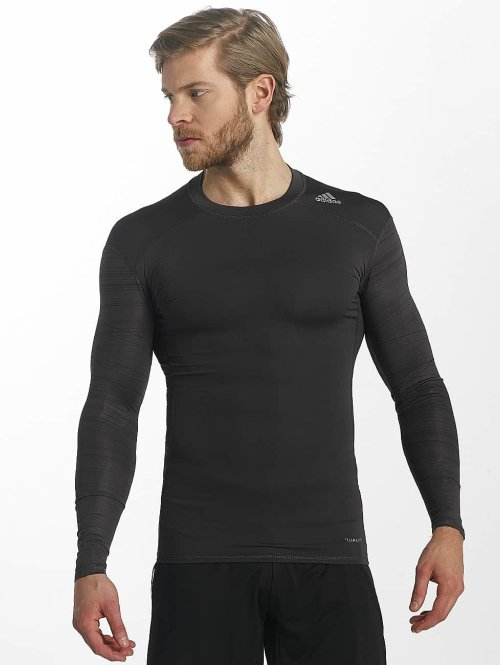 adidas Performance Longsleeve Techfit Base schwarz