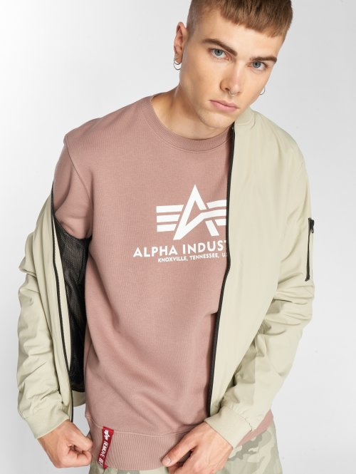 Alpha Industries Пуловер Basic розовый