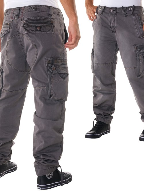 Alpha Industries Cargohose Tough grau