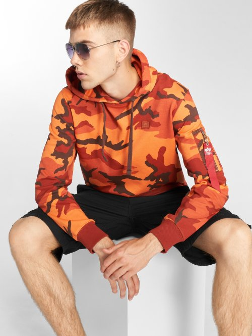 Alpha Industries Hoodie X-Fit orange