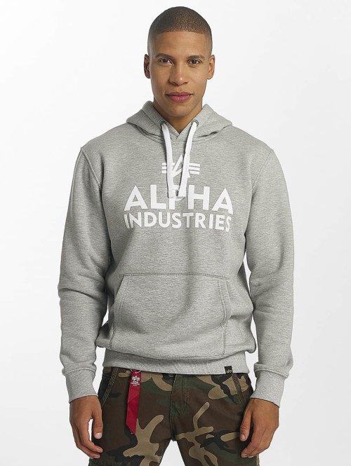 Alpha Industries Hupparit Foam Print harmaa