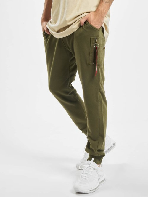 the latest 62154 dafd7 Alpha Industries X-Fit Loose Cargo Pants Dark Green